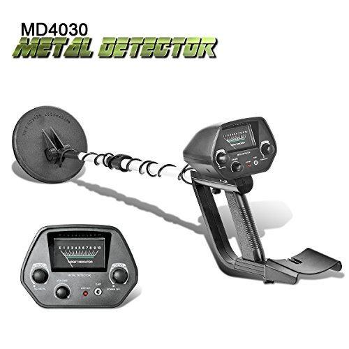SHUOGOU Detector de Metales MD-4030 Gold Finding Machine para principiantes Pantalla LCD Impermeable Bobina de búsqueda con pala plegable