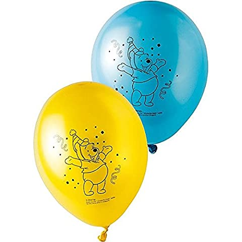 8 ballons ronds latex Winnie