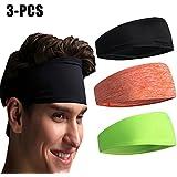 Outgeek Sport Headband Workout Headband Unisex Elastic Soft Sweat Absorbent Yoga Headband Sweatband Headwear for Running Fitness