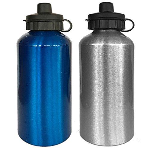 2 Aluminium Trinkflaschen 0,5 Liter