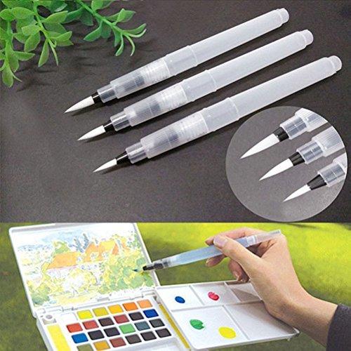 3PCS/Set Aquarell Pinsel Pen Wasser Pinsel, sortiert Bürste Tipps von nabati
