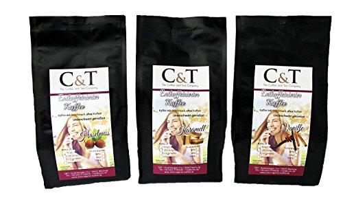 Kaffee mit Geschmack, ohne Koffein! Entkoffeiniert Kaffee mit natürlichen Aromen: Haselnuss,...