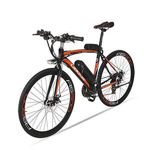 BNMZX Elektrofahrrad, Rennrad für Damen/Herren, 240W / 36V / 10Ah-20Ah, Batterielaufzeit 100 km, 4 Farben zur Auswahl,Orange-36V15ah