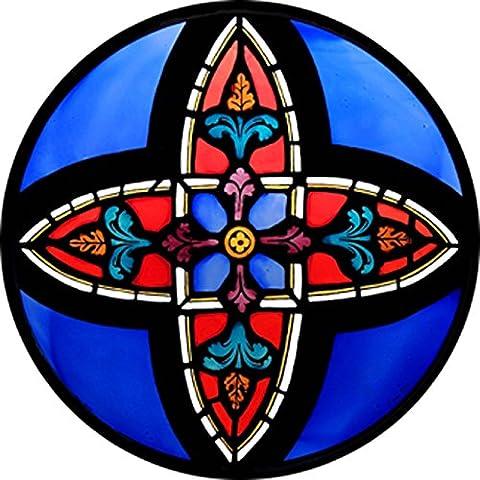 Stained Glass Window Art–statica–Decorazione Motif de la