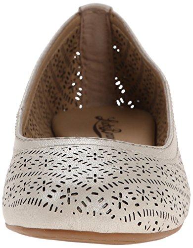 Lucky Brand Eastlee Femmes Cuir Chaussure Plate Mtlc Nigori
