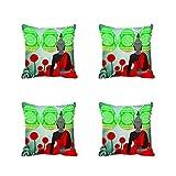 meSleep Geometrical Multi Kissenbezug Set von 4PCS Multicolor Dekorativer Überwurf-Quadratisch Sofa Kissen Fall 30,5cm 40,6cm 45,7cm 50,8cm 55,9cm Art Deco 22