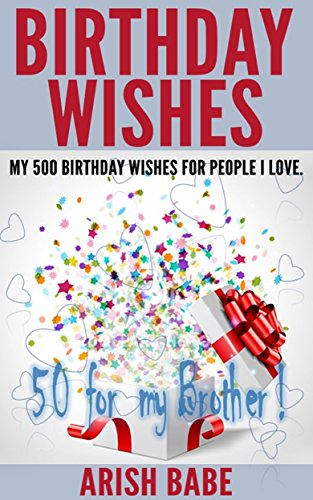 Birthday Wishes 50 For My Brother English Edition Von