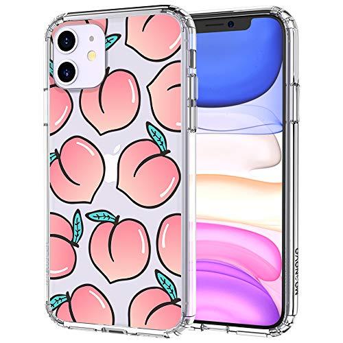 MOSNOVO iPhone 11 Hülle, Pfirsich Muster TPU Bumper mit Hart Plastik Hülle Durchsichtig Schutzhülle Transparent für iPhone 11 (2019) (Peach) -