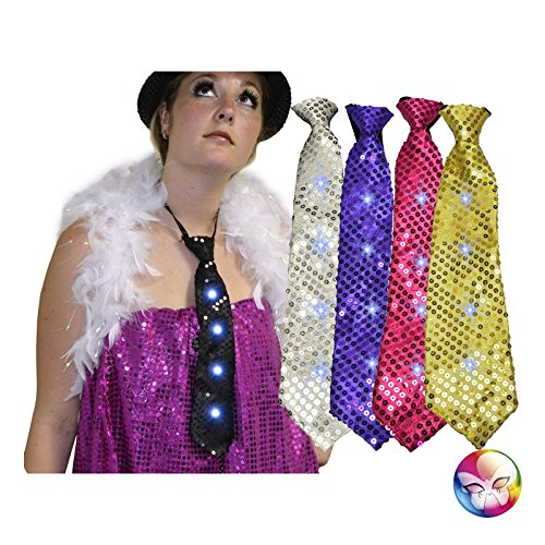 AEC-AC1278-Cravate-sequins-lumineuse-avec-4-leds-5-couleurs-assorties
