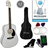 Stretton Payne Dreadnought Full Sized Steel String Acoustic Guitar PACKAGE D1 White