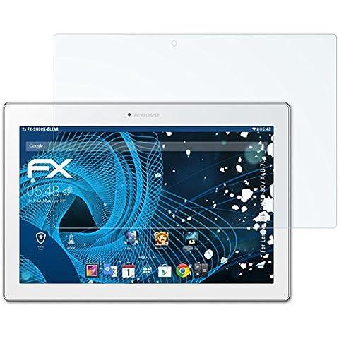 2 x atFoliX Antichoque Película Protectora Lenovo Tab 2 A10-30 / A10-70 Protector Película -