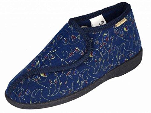 Signore Famoso Dunlop Betsy Lavabile Toccare E Chiudere Pantofole Blu