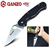 (T. Rex) G10 Cuchillo Plegable de Acero Inoxidable Antideslizante Caza Supervivencia Cuchillo Hunting Folding Knife, con Clip de Bolsillo by Ganzo Firebird