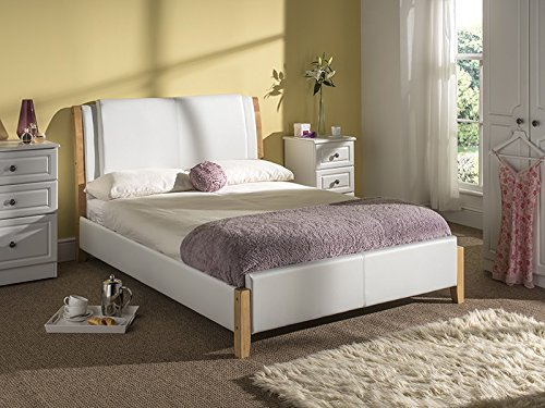 Snuggle Beds Chelsea Leather (White) 5FT Kingsize Bed Frame