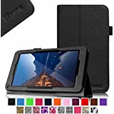 "Fintie Folio Premium Vegan Leather Case Stand Cover for Upgraded Time2 7 Inch Android Tablet 2015, Time2Touch GC750C 7"" Quadcore Android Lollipop Tablet, Time2Touch SC744B 7"" Dual Core Android Kitkat Tablet, BTC Flame 7 Inch UK ATM7059 A9 Android Tablet, 2015 SATUS 7 Inch Android Tablet, Trimeo 7 Inch Windows 8.1 Tablet, LENOTAB 7 Inch Windows Tablet - Black"