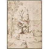 Diseño de juguetes, guardería y cuentos de hadas el árbol hombre por Hieronymus Bosch, 1505, 250gsm brillante Art Tarjeta A3reproducción de póster