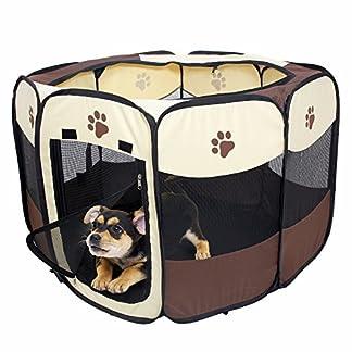 Haichen Pet Playpen Portable Foldable Puppy Dog Pet Cat Oxford Cloth Tent, 28.7 * 28.7 * 16.9″ 51pbmhlIBBL