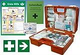Erste-Hilfe-Koffer Quick -Komplettpaket- mit 'Notfallbeatmungshilfe' für Betriebe DIN/EN 13157 +...