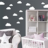 "Wandaufkleber ""Set mit 20 Wolken"" Wandtattoo Wandsticker Sticker Wanddeko Kinderzimmer Himmel"