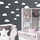 Wandaufkleber 'Set mit 20 Wolken' Wandtattoo Wandsticker Sticker Wanddeko Kinderzimmer Himmel