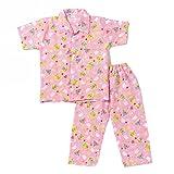 #9: Half Sleeves Night Suit Bear Print - Pink