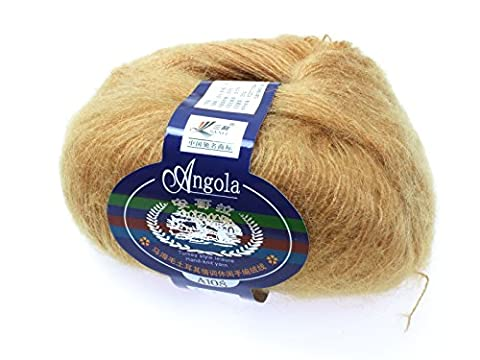 Angola Mohair Wool (25g) VARIOUS COLOURS (Camel)