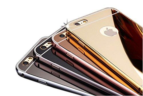 Zhinkarts Miroir Case Bumper en aluminium de luxe Rosegold