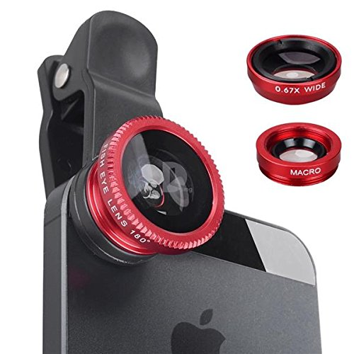 Shopline Latest 3 in 1 Lens Kit Clip Fish-Eye + Wide Angle + Macro Lens Set Universal Mobile Camera Lens