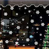 Weihnachten Fensterbilder Weihnachtssticker,Rovinci Schneeflocken Fensteraufkleber Fensterdeko Fenstersticker Weihnachtsdeko Wandaufkleber Wandtattoo Wandsticker Aufkleber Removable PVC Wanddeko
