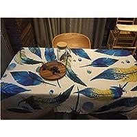 Tovaglia Linea panno di cotone e lino Tovaglia Specialità piuma semplice pranzo Tovaglia ( colore : A , dimensioni : 180*140cm )