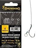 Browning Feeder Angelhaken Braid Feeder Leader Method bronze Gr.4 Pellet Band