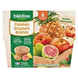 Blédina 4 Coupelles Pommes Goyaves Ananas dès 8 mois