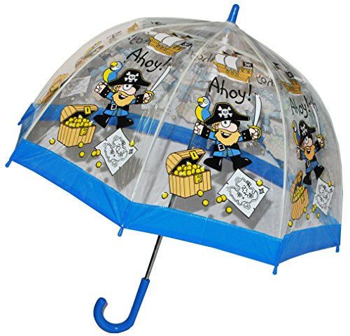m Pirat / Schatztruhe - Kinderschirm transparent Ø 70 cm - Kinder Stockschirm - für Jungen Schirm Kinderregenschirm / Glockenschirm Piraten Piratens.. ()