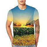 UJUNAOR Unisex Casual Manica Corta T-Shirt 3D Stampato Tees Maglietta da Uomo e Donna,T Shirt Uomo Divertenti,Maglietta A Maniche Corte,M/L/XL/XXL/XXXL(Medium,Giallo)