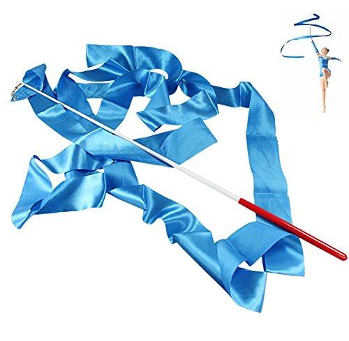 4M Danza Cinta de Gimnasia Gym Rítmica con la varita del palillo Arte Ballet Giro, Azul