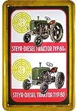 LKW, Bus, Traktor 'Steyr Tipo 80a trattori reklame Targa in Metallo Replica