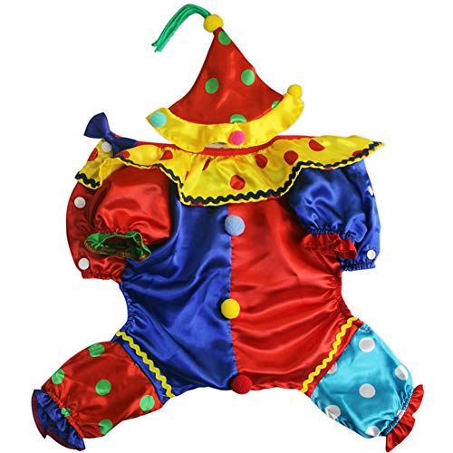 Clown Kostüm Haustier - TFWJ Haustier Kostüme Clown Kleid Halloween Cosplay,XXL