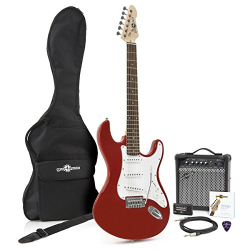 Guitarra Eléctrica LA + Pack de Ampli de 15W - Rojo