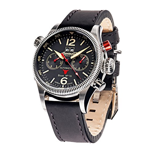 Ingersoll IN3225BK Herren Bison No. 70 Automatik 46mm 5ATM