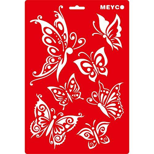 bastelkoerble® Stencils Schablone Schmetterling , Kunststoff, Format A4