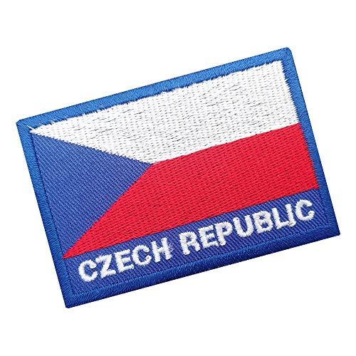 Lucky Patches, Aufnäher, Iron on Patch, Applikation, Fahne, Flagge, Wimpel - Tschechien, Ceska, Czech Republic 7 x 5 cm