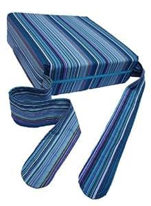 Pomfitis Sitata - Chaise Haute Bébé Coussin et Rehausseur Siège - Rayures Bleues