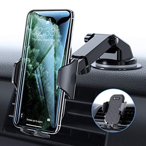 VICSEED Handyhalter fürs Auto Handyhalterung Armaturenbrett/Windschutzscheibe/Lüftung Universal Kfz Handy Halterung für iPhone 11 Pro XS Max XR X 8 7 Plus, Samsung S10 S9 S8, Huawei P30 Pro usw