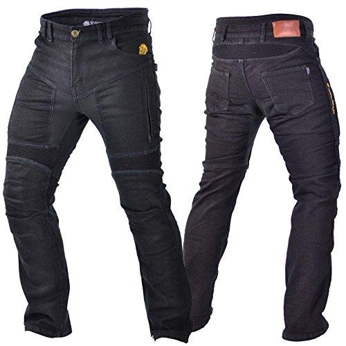 Trilobite Parado Jeans Schwarz Herren Motorrad Hose Protektoren Aramid Stretch Länge 34, 38066111, Größe 36 (Jeans Hose Motorrad)