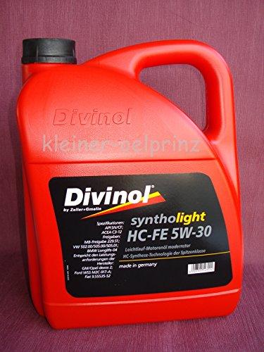 Divinol Syntholight HC-FE - Olio motore, 5W-30, 1 x 5 l