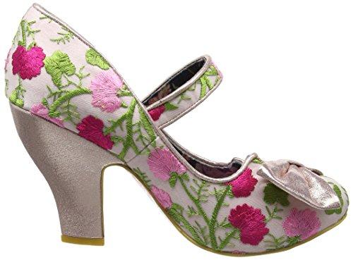 Scelta Irregolare Damen Fancy Questo Mary Jane Halbschuhe Rosa (rosa Floreale)