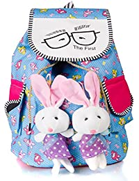 MAK Girl's Teddy Backpack (Multicolor)