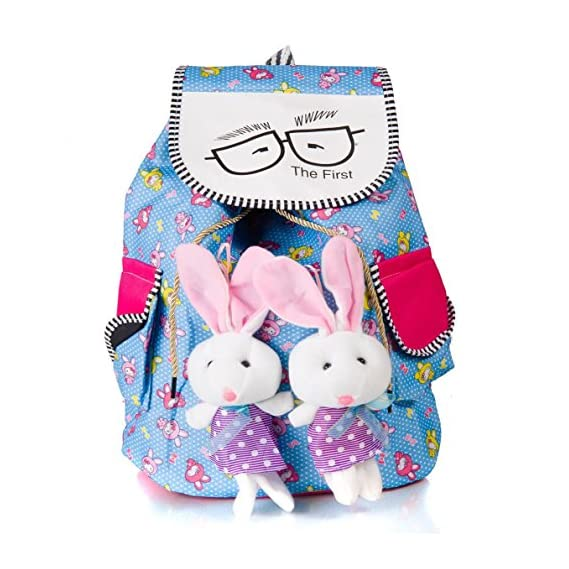 Generic Mak Women's Cotton Teddy Printed Backpack (Multicolour)