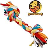 Foodie Puppies Cotton Durable Dog Chew Rope Toy for Small to Medium Dogs (Colour May Vary)