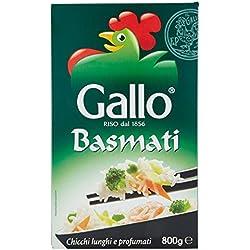 Gallo - Riso Basmati, Chicci Lunghi e Profumati - 3 confezioni da 800 g [2400 g]